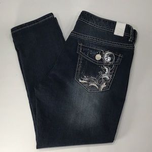Maurice's straight cropped jeans